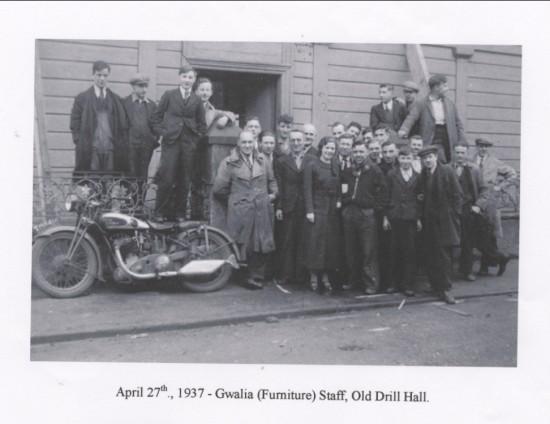 Gwalia furniture staff, Old Drill Hall