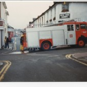 A fire engine in Brynmawr town