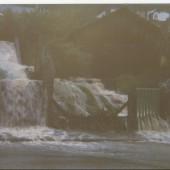 Flood at bottom of Crosscombe Terrace.