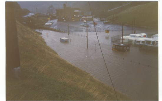 Marine Colliery, during floods of 1984