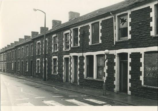 Cwm Road, Waunlwyd, during demolition