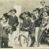 Sallis' shop float in Cwm Carnival, 1930s