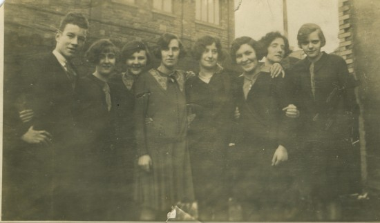 Staff of Sallis' shop, 1920s