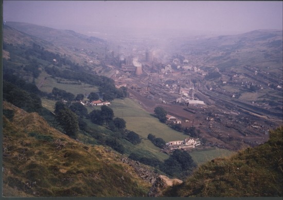 Ebbw Vale Steelworks in full production