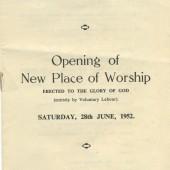 Programme ,Caersalem Baptist Church,Waunlwyd