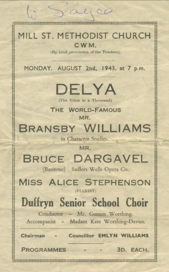 Delya Programme, 1943