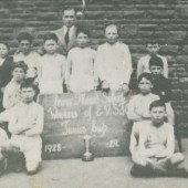 Cwm Mixed School (Top) E.V.S.F.Cup Winners 1928  1929