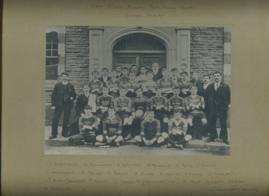 Cwm Stars Rugby Football Team 1906  1907