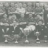 Cwm Welfare Soccer Team 1945,Winners of 5 Cups during 1945 Season