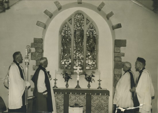 Stained Glass Window dedicated by The Bishop of Monmouth.