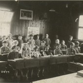 Class of Pupils in Tyllwyn School Hut.