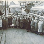 Cwm Pensioners Outing to Blackpool in William Street