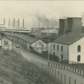 View North of Augusta Street,Bethel Chapel,and Ebbw Vale Steelworks.