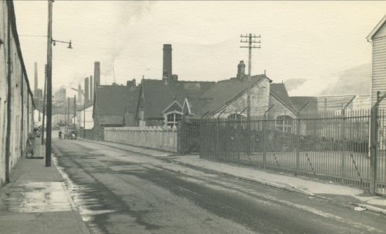 View North from Queen Street,of Victoria Mixed School and Augusta Street.