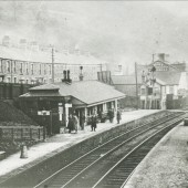 Cwm Railway Station,view South