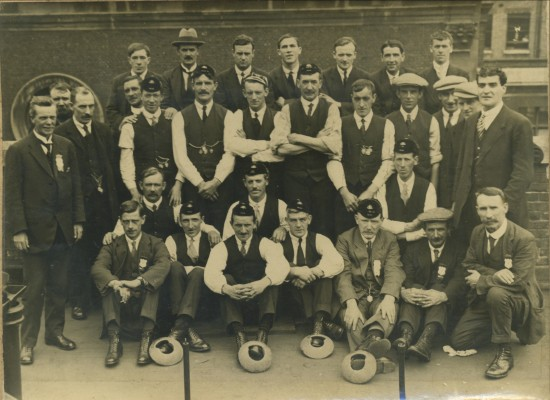 Wales Quoits Team v England played at The Custom House,London.This was the first time Wales 219 pts beat England 203 pts away.