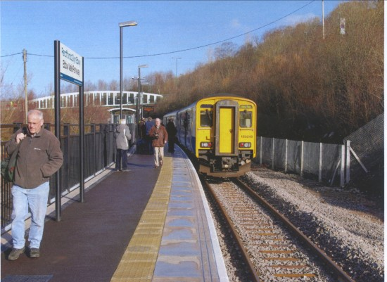 Ebbw Vale Parkway Station, opening of Rail Link to Cardiff on 6th February 2008 after this line was closed to passenger traffic in 1962,a gap of 46 years.