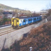 Ebbw Vale Parkway Station,opening day 6th February 2008.