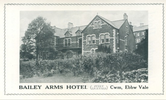 Bailey Arms Hotel,Cwm.