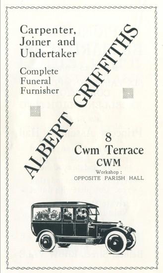 Albert Griffiths,Undertaker.
