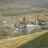 Marine Colliery,closure 1989,view from The Rhiw.