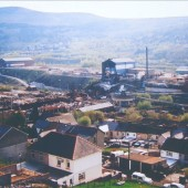 Ebbw Vale Steelworks,demolition of The Pickler by Tyllwyn.