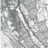 1880 Map of Victoria and land where Waunlwyd was built on in the 1890's.