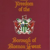 D.Ronald Evans,M.B.E.,J.P.The Freedom of The Borough of Blaenau Gwent.