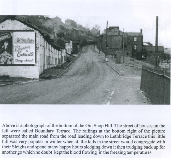View North up The Gin Shop Hill or Victoria Road