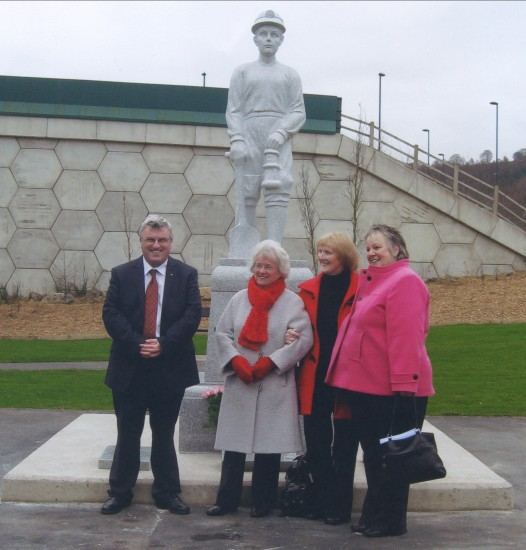 Official Opening of The Miner's Memorial near The Cwm Marine Colliery Site.
