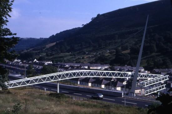 New Footbridge in Cwm