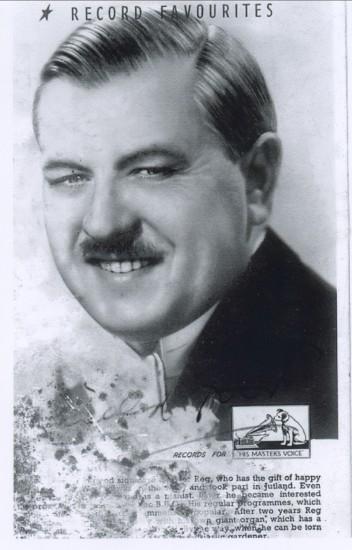 H.M.V.Recording Star,Reginald Dixon,who gave a Concert in aid of The Second World War Effort.