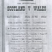 Quoits International at Llanhilleth 1954 Wales v Scotland.