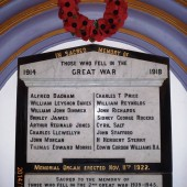 Memorial plaque at Ebenezer Baptist Church