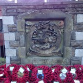 Cenotaph at Cwm Library, 2013-11-19
