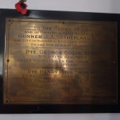 Bailey Street Presbyterian Chapel WW1 memorial plaque