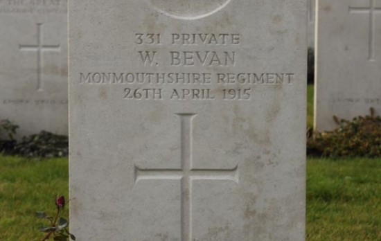 William Bevan & Walter Charles Porch - 2 coal hewers from Tredegar killed on the same day in April 1915