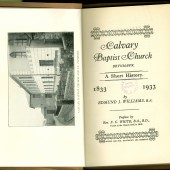 Calvary Baptist Church Short History (1933) - title page