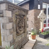 Cenotaph at Cwm Library, 2014-04-29