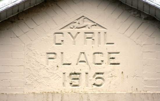 Cyril Place, 1915 - named after Cyril Salt who died in April 1915 on the Western Front