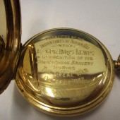 Pocket Watch awarded to Idris James Lewis - gift from town of Brynmawr