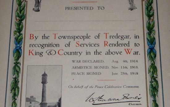 Tredegar Peace Celebrations