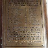 St James' WW1 Memorial, Tredegar