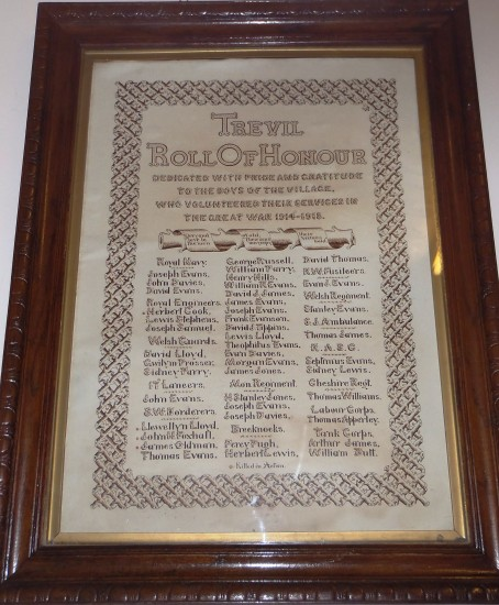 Trevil WW1 Roll of Honour