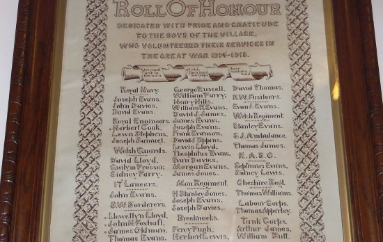 Trefil WW1 Roll of Honour
