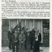 British Legion Cwm Branch outside Cwm Library, 1979