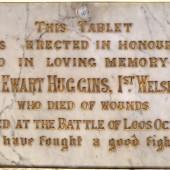 Private Ewart Huggins' memorial