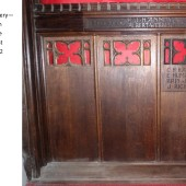 Carved Oak Rood Screen At St Michael's Church, Abertillery Panels 1, 2 & 3