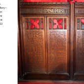 Carved Oak Rood Screen At St Michael's Church, Abertillery Panels 18, 19 & 20