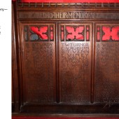Carved Oak Rood Screen At St Michael's Church, Abertillery Panels 20, 21 & 22